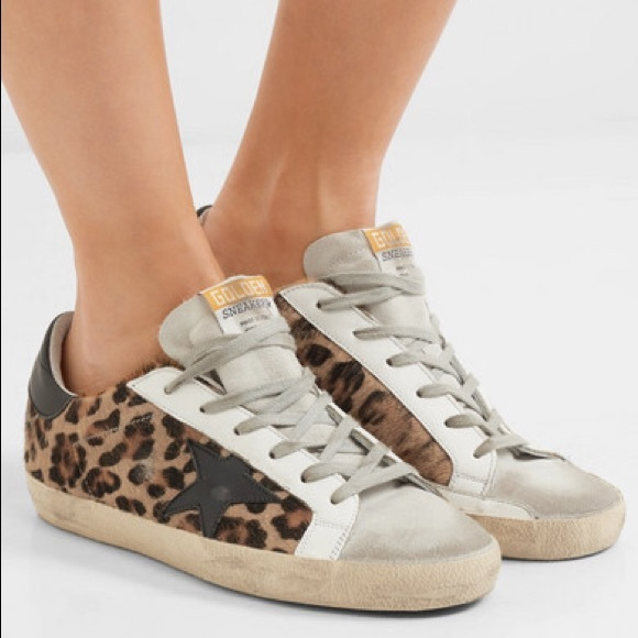 sports shoes 30a52 7dd55 Golden Goose Shoes - Golden Goose sneakers superstar leopard black 37